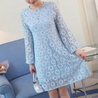 Flare-Sleeve Lace Maternity Dress 1596