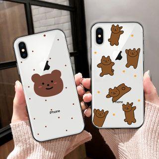 Image of Bear Print Phone Case - iPhone 6 / 6S / 6S Plus / 7 / 7 Plus / 8 / 8 Plus / X / XS / XR / XS Max / 11 / 11 Pro / 11 Pro Max