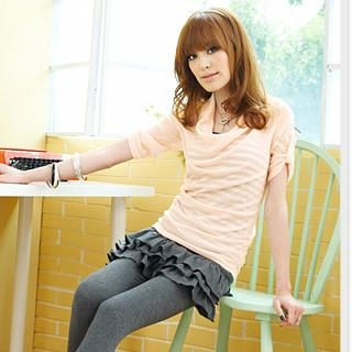 Buy Tokyo Fashion Set: Cowl-Neck Top + Striped Camisole 1022590502