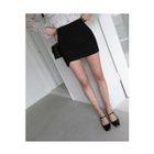 Asymmetric-Hem Pencil Skirt 1596