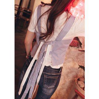 Tie-Back Cotton Bustier Top 1058323592