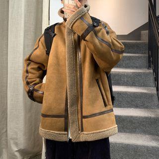 Buckle   Jacket   Suede   Faux