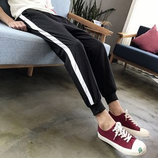 Contrast Trim Sweatpants 1062158467