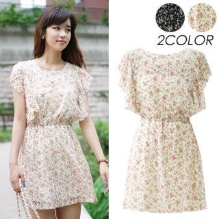 Buy VIVIDRESS Flutter-Sleeve Floral Printed Dress 1022995947
