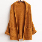 Open-Front Waffle-Knit Cardigan 1596