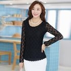 Long-Sleeve Lace Top 1596