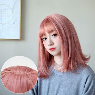 Image of Long Full Wig - Straight Cherry Blossoms Pink - One Size