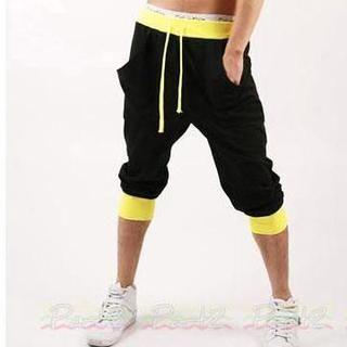 Two-Tone Cropped Sweatpants 1037479713