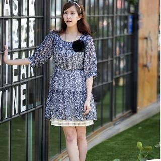 Buy IT GIRL STYLE Elbow-Sleeve Chiffon Dress 1022505055