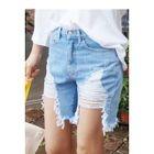 Cutout Distressed Denim Shorts 1596