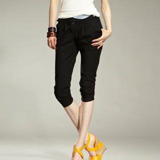 Buy tictak Slim-Fit Pleated Cropped Pants 1023065781