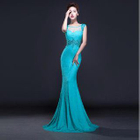 Sleeveless Lace Mermaid Evening Gown 1596