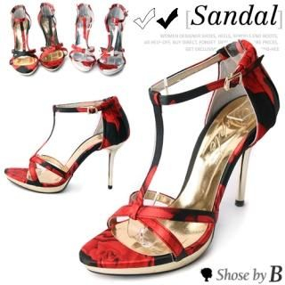 Buy Shoes by B T-Strap Patterned Sandals 1022967468