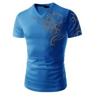 Short-Sleeve V-Neck T-Shirt 1050137759