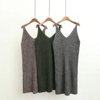 Sleeveless Ribbed Knit Dress 1061431968