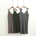 Sleeveless Ribbed Knit Dress 1596