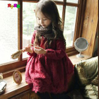 Kids Fleece-lined Lace Dress 1596