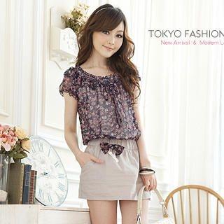 "Buy Tokyo Fashion Mock Two-Piece ""Bow"" Dress 1022911684"