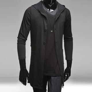 Picture of Style YOURS Hooded Long Vest 1022459104 (Style YOURS, Mens Tees, Korea)