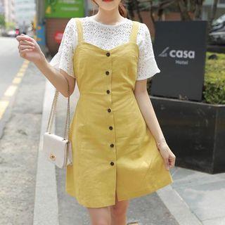 Button-Front Sleeveless Dress 1050740801