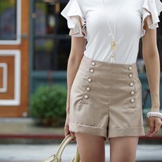 Buy IT GIRL STYLE High-Waist Shorts 1023032772