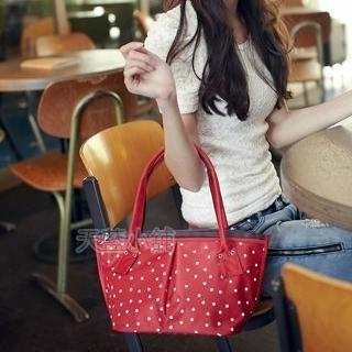 Pleated Dotted Handbag