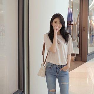 Short-Sleeve Ribbed T-Shirt 1061398547