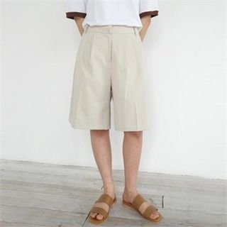 Flat-Front Cotton Shorts 1066032974