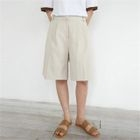 Flat-Front Cotton Shorts 1596