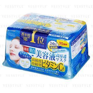 Kose - Clear Turn Vitamin C Essence Mask (Blue Box) 30 pcs