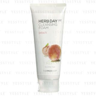 Buy The Face Shop – Herb Day Cleansing Cleansing Foam (Peach) 170ml