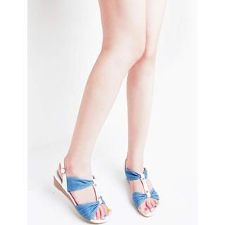 Buy KAWO Ruched Denim Sandals 1022918717