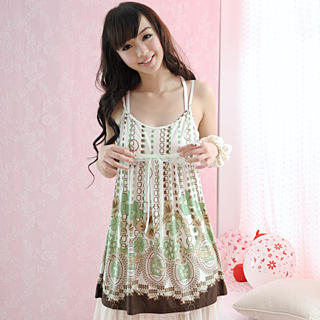 Picture of 59 Seconds Sleeveless Printed Long Top 1022423143 (59 Seconds Apparel, Womens Innerwear, Hong Kong Apparel, Slips & Camis)