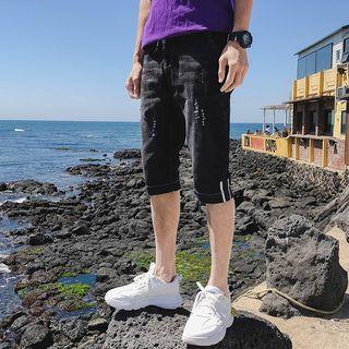 Image of Denim Capri Pants