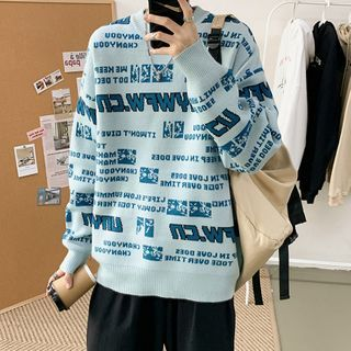 Lettering Sweater