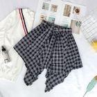 A-Line Plaid Mini Skirt 1596