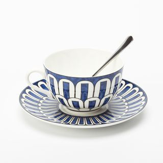 Set : Patterned Ceramic Cup + Plate 1057344662