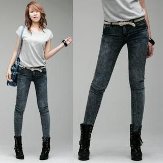 Buy LCLOTHES Washed Skinny Jeans 1022973776