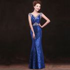 Sequined Sleeveless Mermaid Evening Gown 1596