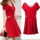 Short-Sleeve Cutout Dress 1596