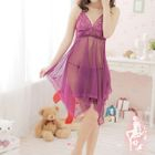 Set: Lace Sleep Dress + Thongs 1596