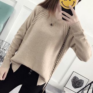 Ribbed Long-Sleeve Knit Sweater 1061801804