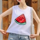 Print Sleeveless T-shirt 1596