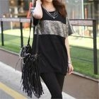 Short-Sleeve Color-Block T-Shirt 1596