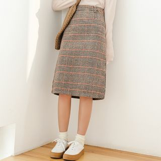 Plaid Midi Skirt - United states