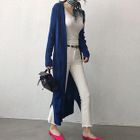 Ribbed Open-Front Long Cardigan 1596