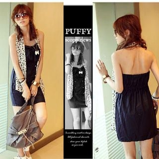 Picture of PUFFY Bow Accent Strapless Dress 1022814936 (PUFFY Dresses, Womens Dresses, Taiwan Dresses)