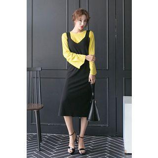 Sleeveless Ribbed Dress 1052775171
