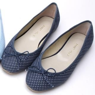 Buy Secret;BB Beribboned Front Dotted Flats 1022568848