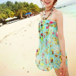 Couple Matching Swim Shorts/ Set: Printed Bikini + Cover-Up 1057716616